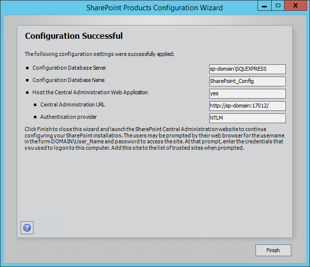 use of microsoft sharepoint for configuration